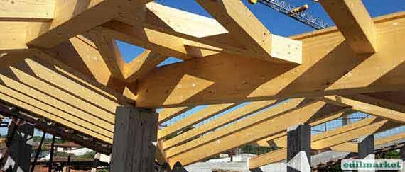 Produzione di tetti in legno Edilmarket Bigmat Massa Carrara